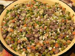 Рецепт мясного салата оливье с говядиной